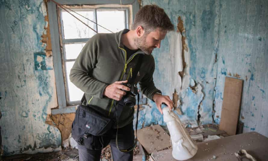 The author in an abandoned house on Droniki village