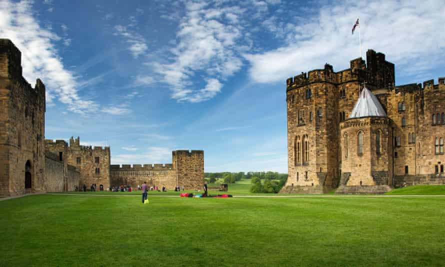 Alnwick Castle, where the first two Harry Potter films were shot.
