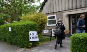 A polling station in the UK.