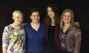 Lucy Saxon, Alwyn Hamilton, Samantha Shannon and Sally Green (left to right)