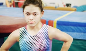 Gymnast Chelsea Zerfas, featured in At the Heart of Gold.