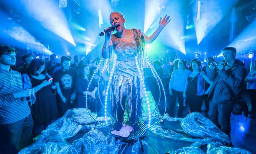 Charlotte Church Performs Sci-Fi UV Show