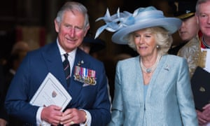 Prince Charles and the Duchess of Cornwall attend Westminster Abbey for the VE Day service.