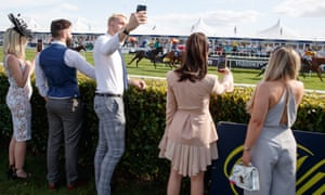 Assorted members from Love Island at Doncaster races on Friday.