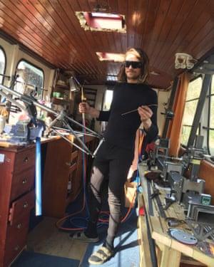 Sam's floating bike repair shop