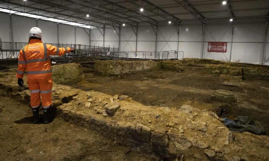 The archaelogical dig near Stoke Mandeville