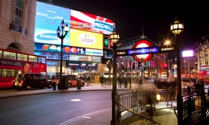 Piccadilly Circus - a major tourist spot in London