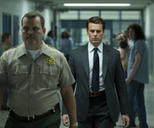 Jonathan Groff, right, in Mindhunter.