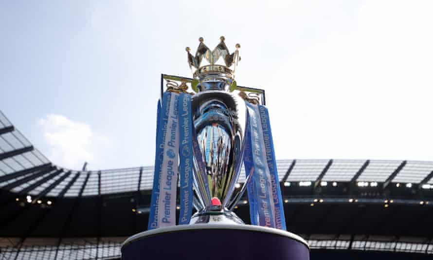 The Premier League trophy