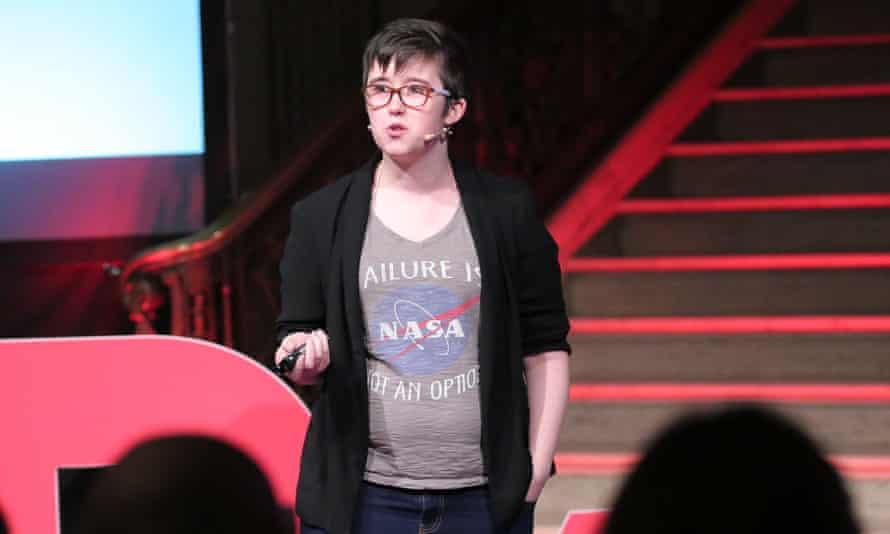 Lyra McKee, speaking at the TEDxStormont Women event in 2017