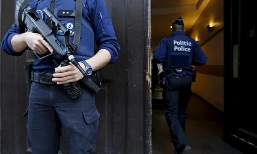 Police officers in Brussels