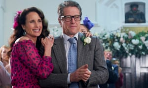 Andie MacDowell and Hugh Grant in One Red Nose Day and a Wedding.