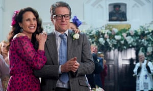 Andie MacDowell and Hugh Grant in One Red Nose Day and a Wedding for this year's Comic Relief.