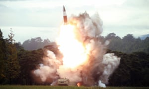 North Korea's test-firing of a short-range ballistic missile which has raised tensions in the region.
