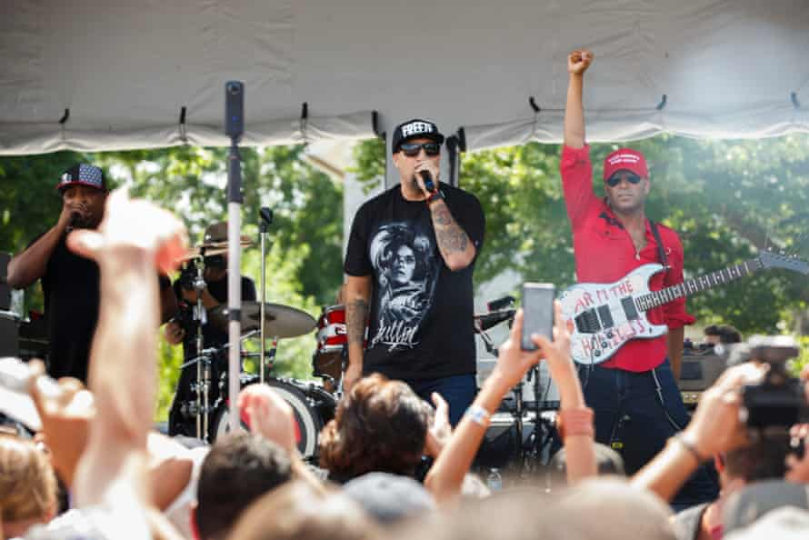 Prophets of Rage in full flow at the RNC.
