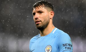 Sergio Agüero is Manchester City's only fit frontline striker