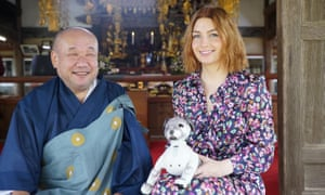 Alice Levine with AIBO the robot dog