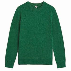 green crew neck jumper Arket