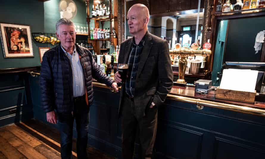 Customers at a West End pub in London on the day after Boris Johnson issued advice on staying away from pubs, theatres and clubs.