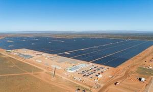 Stage 1 of the Bungala Solar Farm, outside Port Augusta in regional South Australia.