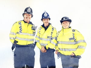 Thames Valley police at Princess Eugenie's wedding in 2018