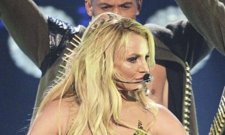 Britney Spears performs last September in London.