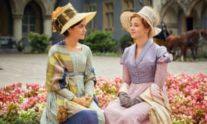 Olivia Cooke as Becky Sharp (left) and Claudia Jessie as Amelia Sedley.