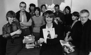 Hat trick: Tina Brown, editor of Tatler magazine, with the rest of the publication's staff at their Mayfair office, in 1979. Brown became editor when she was only 25 years old.