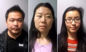 From left: Hong Chin, Li Wei Gao and Ting Li Lu