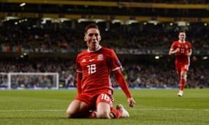 Harry Wilson celebrates scoring the winner as Wales sealed a Nations League double over Martin O'Neill's Republic of Ireland.