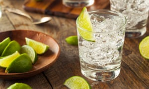 Gin and tonic with lime.