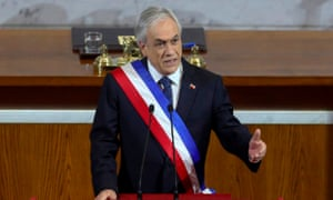 Chilean president Sebastian Piñera delivers his annual message to the nation amid the Covid-19 crisis
