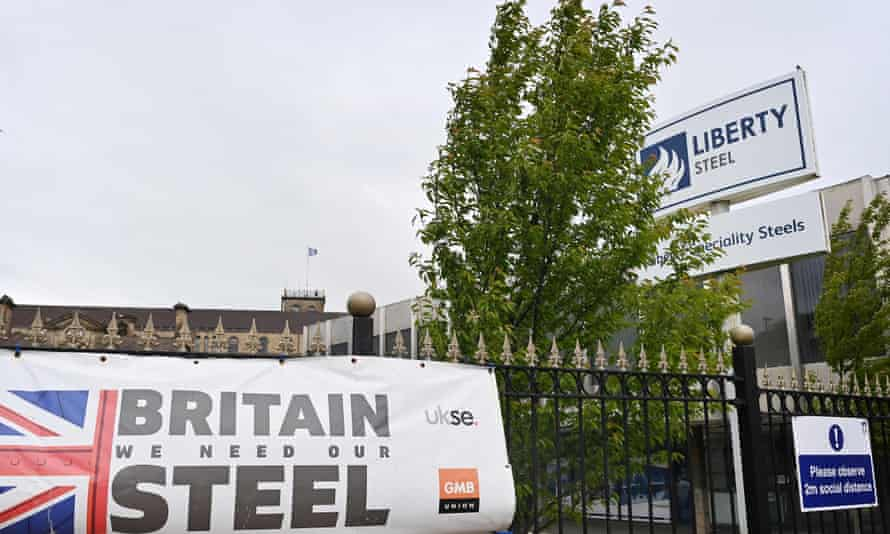 Liberty Steel plant in Stocksbridge, England