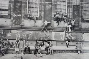 Outside the Black-E Art Centre, Liverpool, 1973