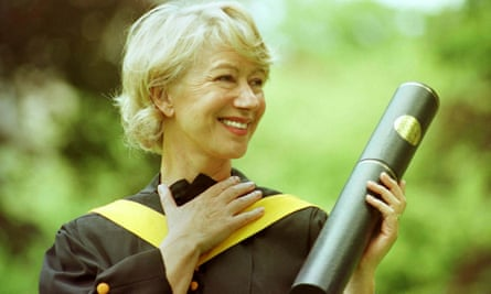 Helen Mirren receives an honorary doctorate from St Andrew's in 1999