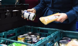 Goods being distributed at a food bank