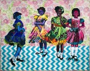 Little Girls by textile artist Bisa Butler.