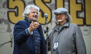 Beppe Grillo and Gianroberto Casaleggio.