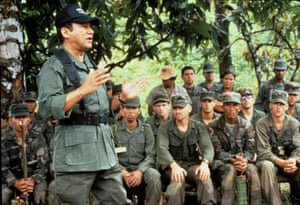 Noriega addressing Panamian troops