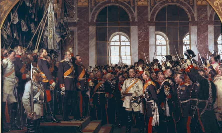 Anton von Werner painting of the the crowning of Wilhelm I to emperor of Germany in Versailles, 18 January 1871.