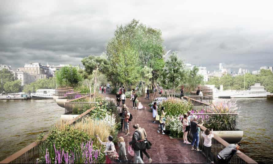 An image of the Garden Bridge project, which was abandoned this week.