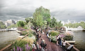 The London Garden Bridge design by Thomas Heatherwick.