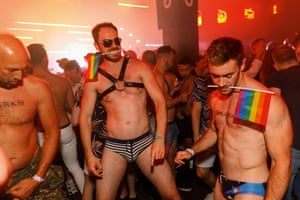 Revellers at Manchester Pride.