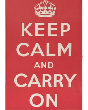 An original Keep Calm and Carry On poster goes on sale.