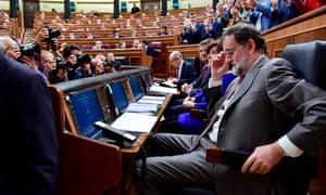 The Spanish prime minister, Mariano Rajoy