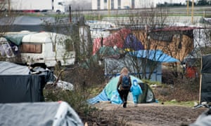 Conditions in the Calais refugee camp were described as a 'living hell'.