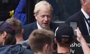 Boris Johnson arriving at parliament yesterday.
