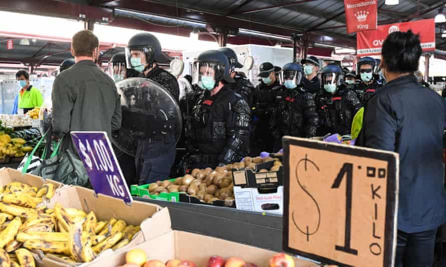 Victoria market protest