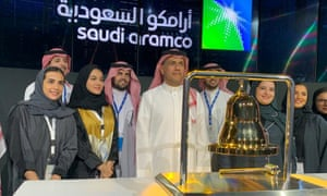 The official ceremony marking the debut of Saudi Aramco's IPO on the Riyadh's stock marke.