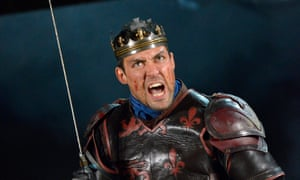 Fight of his life ... Alex Hassell as Henry V.